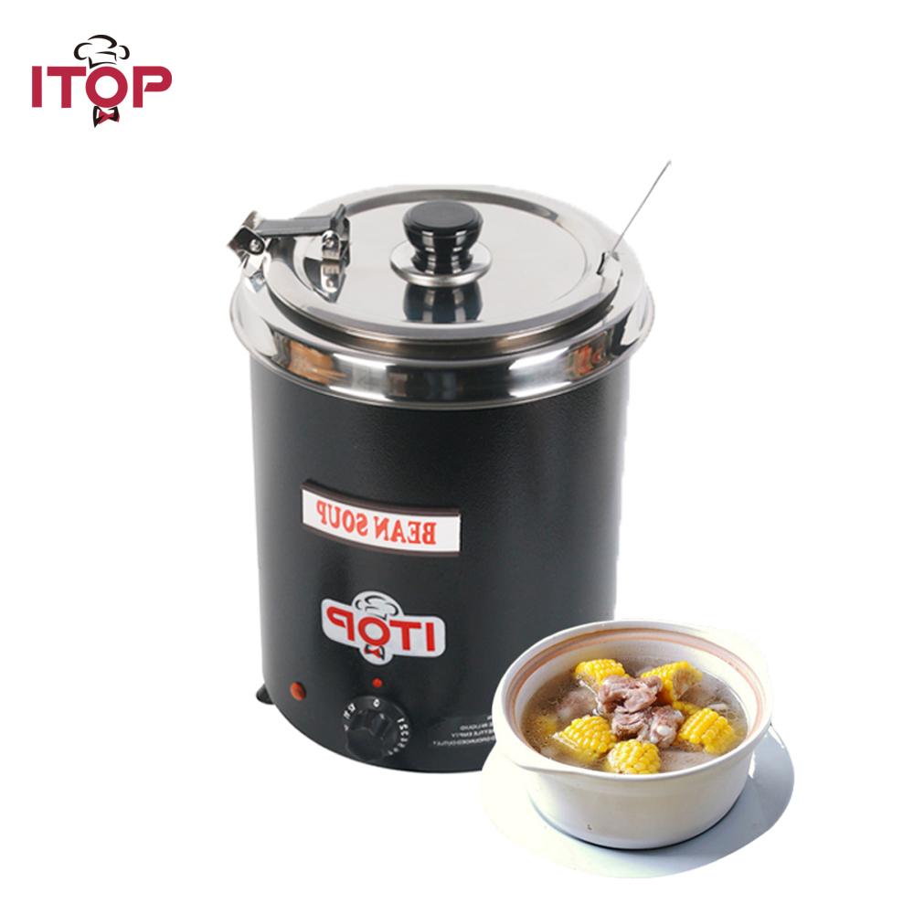 5.7 Countertop Commecial Electric Soup Kettles Warmer Kettle with 200V