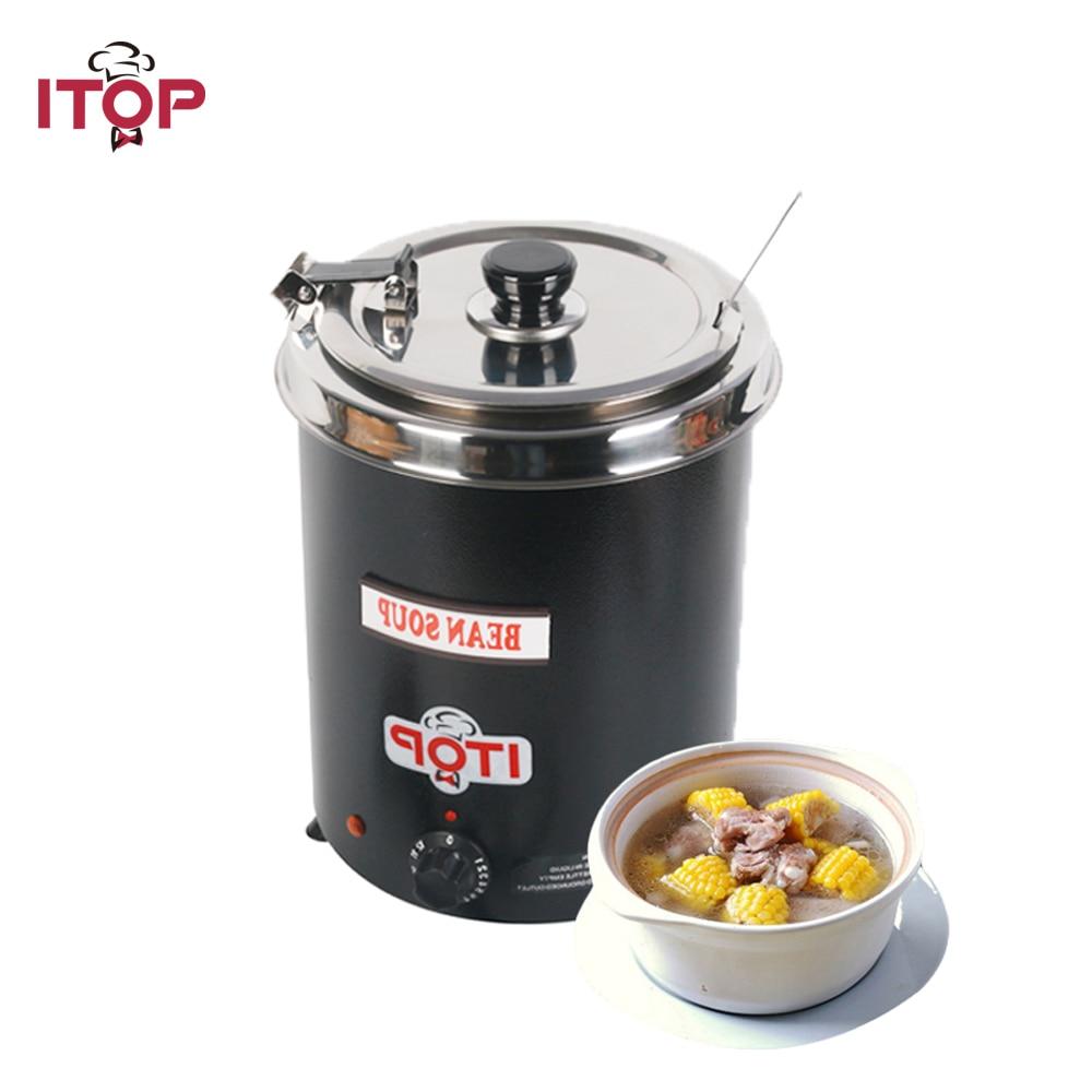 ITOP 5.7L Countertop Commecial Electric Soup Kettles Soup Warmer Electric Soup Kettle Warmer with 200V soup