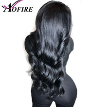 13*4 Lace Frontal Human Hair Wigs 10-28 Inch Body Wave Wig Peruvian Remy Hair For Black Women With Baby Hair Natural Hairline(China)