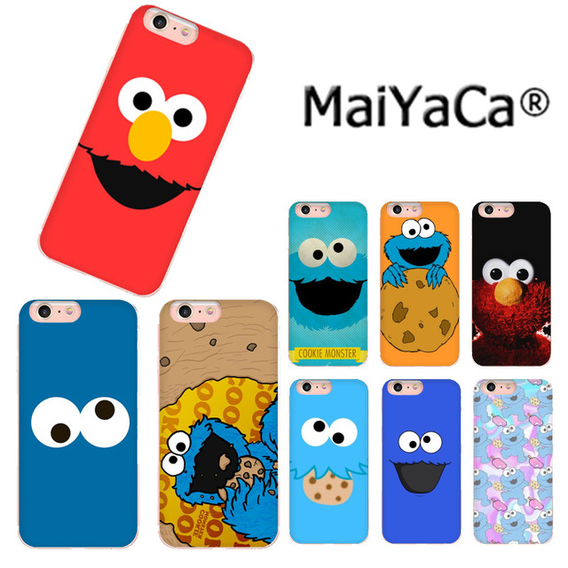 MaiYaCa Cute Cartoon Cookie Elmo Luxury TPU Rubber Phone Cover For IPhone 8 7 6 6S
