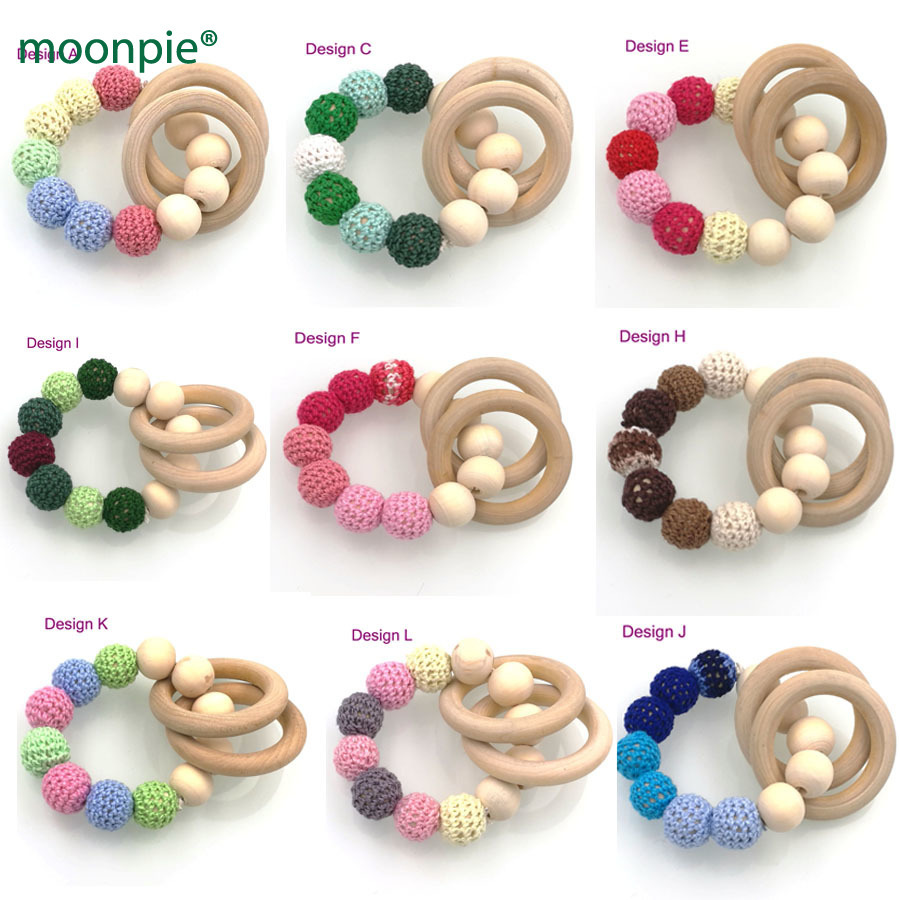Mother & Kids Teething Baby Crochet Spring Light Color Nt037 Elegant And Graceful 12 Colors To Choose Hot Wooden Toy Mommy Jewelry Baby Crochet Nursing Toy