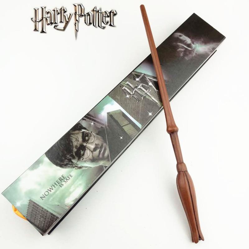 Cosplay Luna Lovegood Jouer Magique Baguette Magique Cadeau Dans la Boîte En Métal Core Harry Potter Baguette Magique