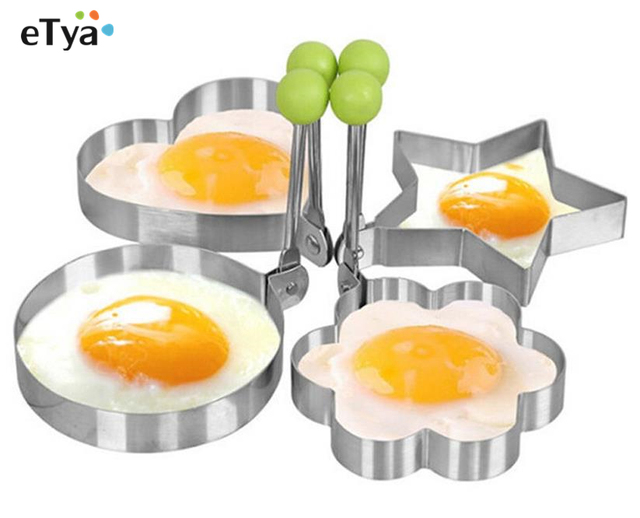 1pc Stainless Steel Pancake Mold Fried Egg Shaper Egg Cracker Mold Omelette Cake Tools Kitchen Gadgets Cookware 1