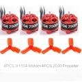 4pcs iPower IX1104 1104 7500kv Brushless motor+4pcs 2030 propeller for 80/90/110/130mm FPV Indoor Micro Frame kit