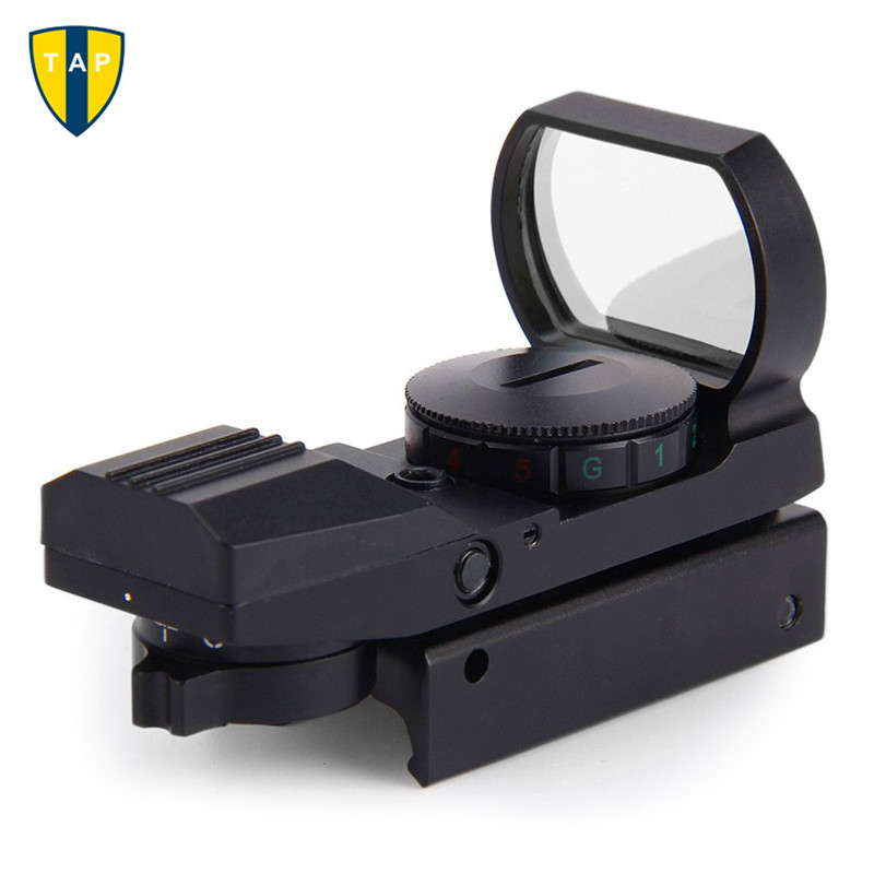 Hunting Tactical 20mm/11mm Holographic 1x22x33 Reflex Red Green Dot Sight Scope RifleScope For Airsoft Gun Caza