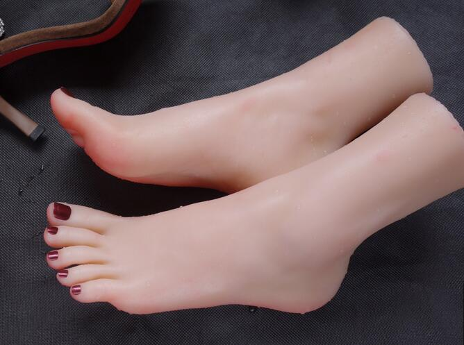 37 Real life simulation female foot mannequin footwear shooting display props pedicure painting teaching stockings 1pc