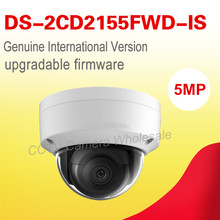 original English version DS-2CD2155FWD-IS 5MP WDR Fixed Dome Network cctv Camera POE, IP67,IR 30M,Audio, IK10,H.265+