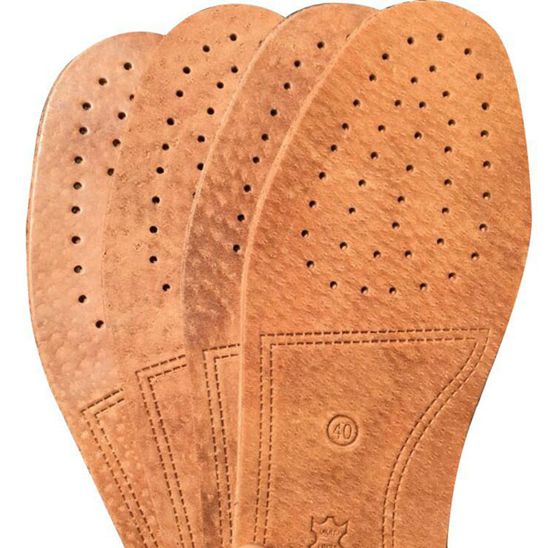 Leather Insole Embossed Deodorant Sweat-absorbent Breathable Gas Leather Insole Massage Non-slip Thick Unisex Leather Insoles