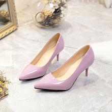 Women Pumps Fashion Women Shoes Spring/autumn All Match Thin High Heel Pointed Toe Flock Wedding Pumps wedding shoes bride gorgeous rhienstone wedding dress shoes high heel pointed toe white bride shoes thin heel crystal performance party pumps