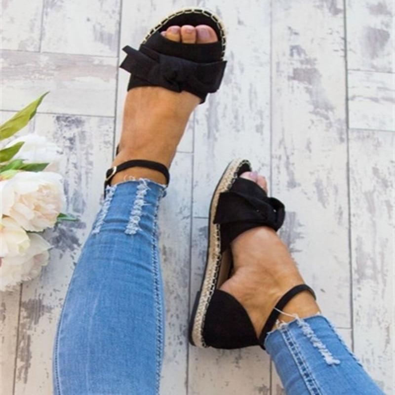 44 Mujeres De Toe Para 2018 Sandalias gris Negro Tamaño 35 Mujer Peep Bajo Zapatos Verano Pisos Negro Casual rosado Tacón Más wtvCrtqg