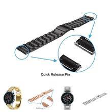 Браслет из нержавеющей стали, сменный ремешок, Аксессуары для samsung Galaxy Watch 46 мм, Новое поступление