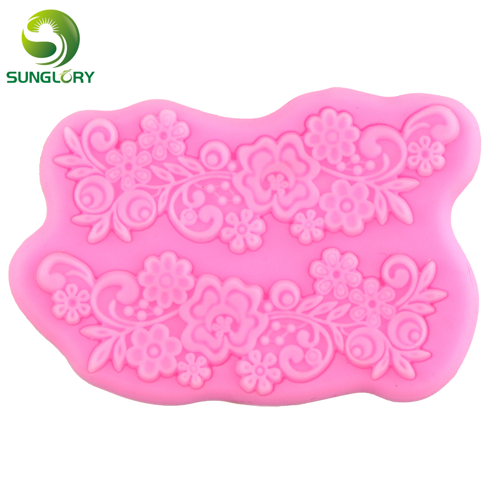 Flower Silicone 3d Mold Silicone Lace Mat Soap Mold