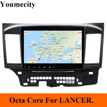 Youmecity Android 8,1 DVD del coche para MITSUBISHI LANCER 10,1 pulgadas 2 DIN 3G/4G GPS radio video reproductor con capacitivo 2007-2018 9 x(China)