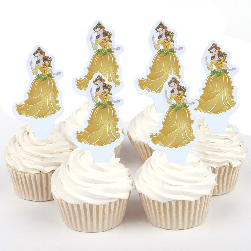 100pcs Disney Princess Cinderella Sophia Bella Mini Paper Cupcake ...