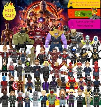 SuperHeroes Avengers Infinity Wars Venom Thanos Deadpool Thor3 Iron Ant Man2 Black panther Marvel Legoing Figures Building Block Щипцы