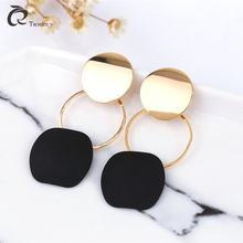 Fashion New Earrings Boutique Joker Geometric Copper Metal Creative Female Ear Jewelry Pendants