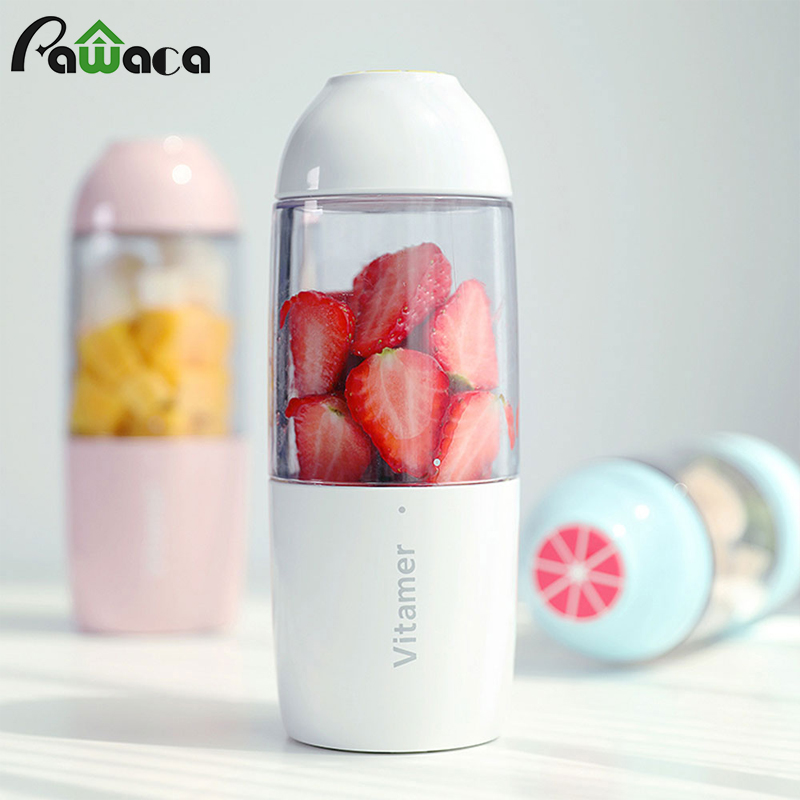 Portable Juicer Cup USB Rechargeable Electric Fruit Smoothie Maker Baby Food Mixing Machine Personal Size Juice