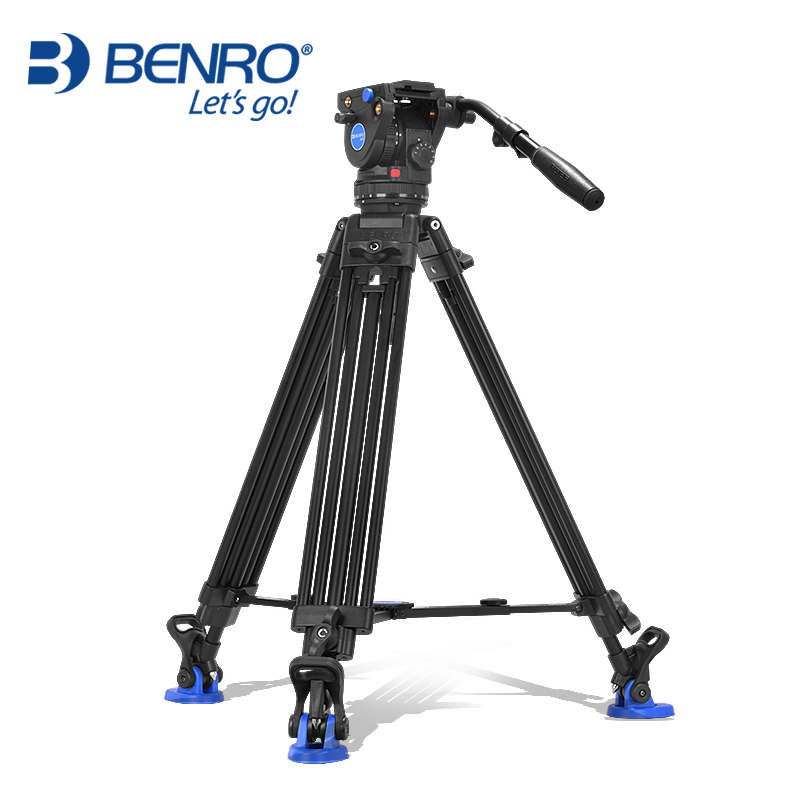 Benro BV6 Professional Camera Tripod Quick Release Plate Single Handle Hydraulic Damper Head Suit Tripe Tripodes Accessories benro s4 video head