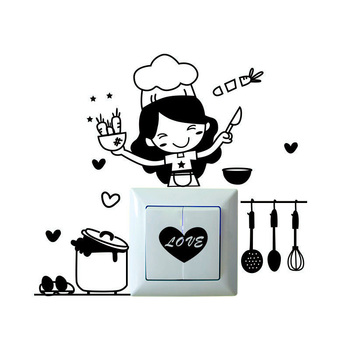 Warmly Decorated Waterproof Wall Stickers For Kitchen-Free Shipping For Kitchen