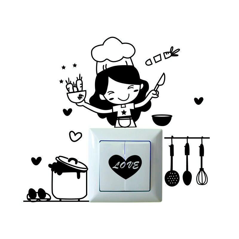 Con una decoración cálida pared pegatinas diy cocina a prueba de agua pegatinas