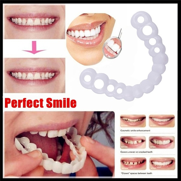 Smile Denture Fit Top Cosmetic Teeth Comfortable Cover Instant Comfort Whitening Teeth Denture