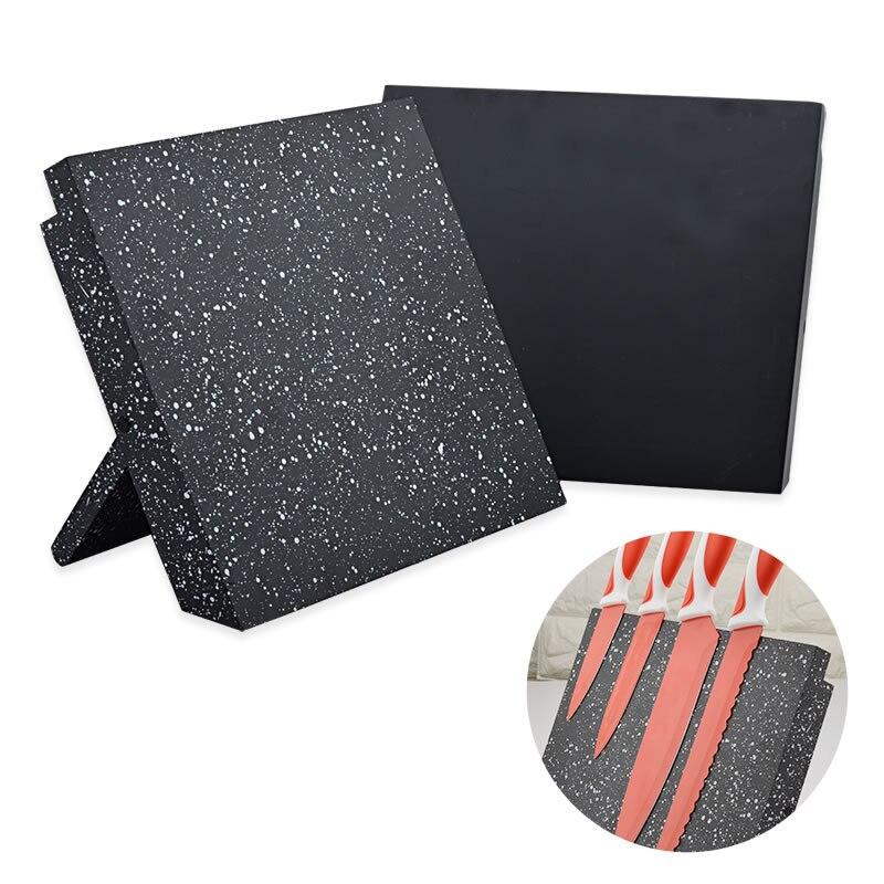 1 шт. МДФ + Магнитный держатель для ножей, подставка для ножей, хороший блок для ножей, держатель для ножей, аксессуары для кухонных ножей, черный/снежинка, цветной стиль