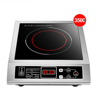 Intelligent Induction Cooker 3500W High Power Induction Cooktop Stainless Steel Cooktop 3D Waterproof Black Microlite Panel 220V
