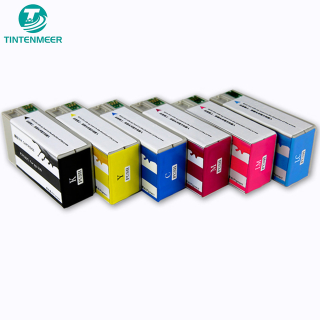 TINTENMEER pigment ink cartridge PJIC1 to PJIC6 compatible for epson P100 PP50 PP 100 PP 50 CD printing printer TEMP