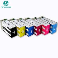 TINTENMEER pigment mürekkep kartuşu PJIC1 to PJIC6 için uyumlu P100 PP50 PP 100 PP 50 CD baskı yazıcı sıcaklık