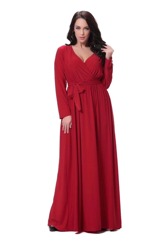 a1b7098dc4 Muslim Women Long Sleeve Solid A-line Dress Islamic Clothing Dubai Kaftan  Caftan Plus Size Maxi / Long Casual Robe Gown