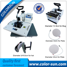 5 in 1 heat press machine for printing mug T shirt plate hat
