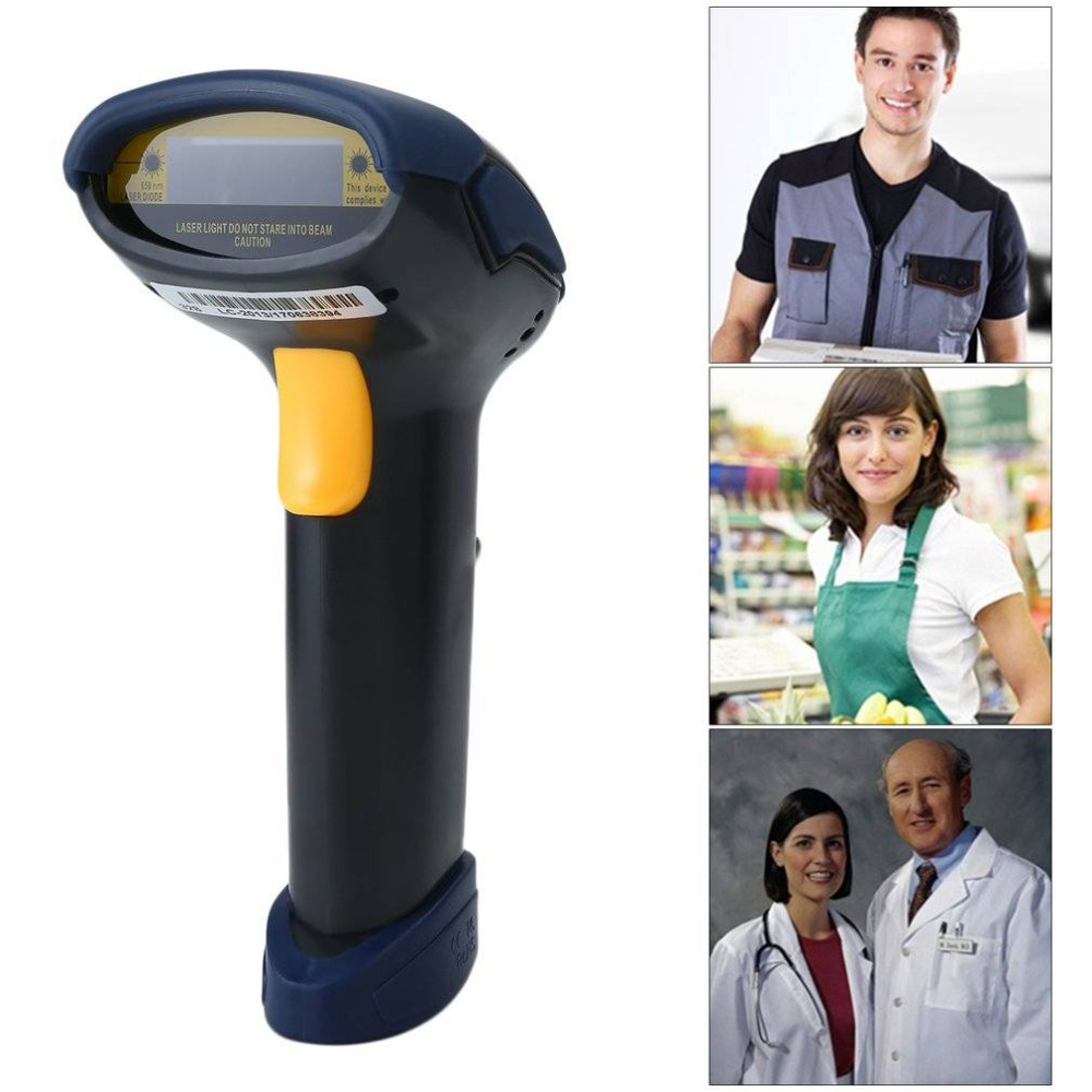 Handheld USB Wired Automatic Barcode Scanner Scanning Barcode Bar-code Reader