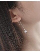 Flyleaf 925 Sterling Silver Water Drop Long Earrings For Women Fashion Lady Cubic Zirconia Diamonds Sterling-silver-jewelry