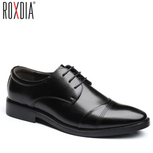 ROXDIA brand men dress flats PU leather pointed toe formal business shoes men's oxford wedding flats plus size 39-48 RXM118