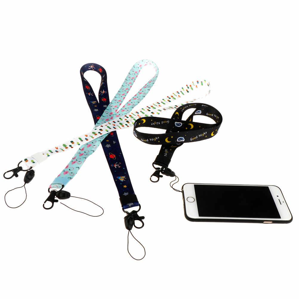 1 ud. Soporte de tarjeta de identificación de cordón bonito de alta calidad de puntada de dibujos animados llavero correa de cuello regalos para niños