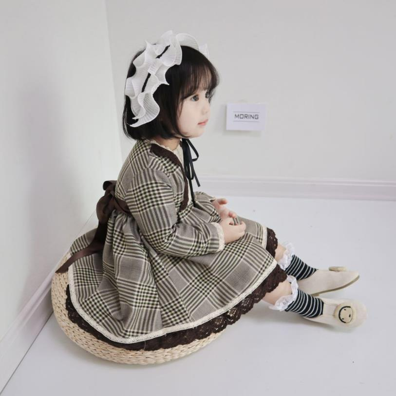 Spring autumn new fashion plaid princess dress for baby girls children lace patchwork party dress kids brithday clothes ws590Spring autumn new fashion plaid princess dress for baby girls children lace patchwork party dress kids brithday clothes ws590