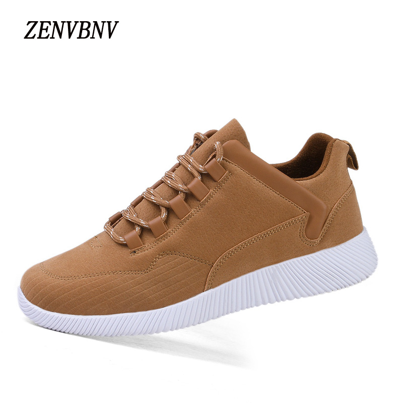 ZENVBNV Brand 2017 Men Casual Shoes Gray Brown Color Soft Leather Light Weight Anti-Slip High Quality Comfortable Men Shoes american crew камуфляж для седых волос natural gray coverage gray light brown 5 6 цвет light brown 5 6 variant hex name 6c4b30