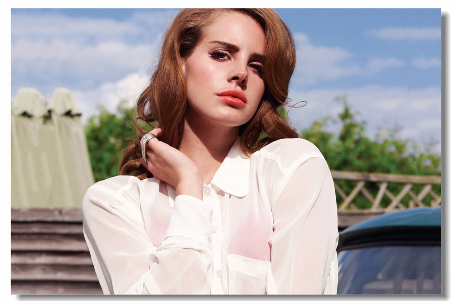 Custom Canvas Wall Decal Sexy Lana Del Rey Poster Wallpaper Vintage Sticker Office