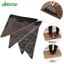 4pcs Bath Mat Carpet Grippers Non-slip Sticker Firm Stickers Reusable Washable Rug Non Slip Silicone Grip For Home