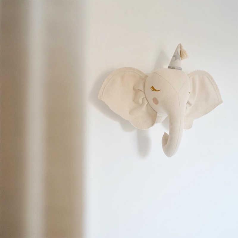 Bicho De Pelúcia De Parede Cabeça De Feltro 3D Animal Boneca para Crianças Decoração Da Sala