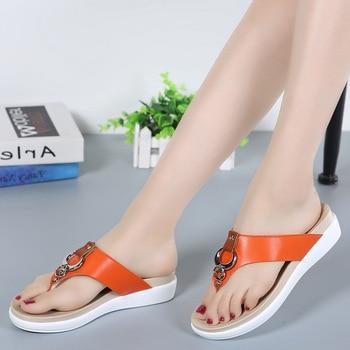 Verano de las mujeres sandalias 2019 nueva moda flip flops, sandalias de las mujeres cómodo al aire libre calzado de playa con plataforma mujer casual zapatillas