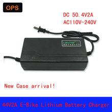 OPS 44V2A 50.4V Universal Charger  E-Bike Lithium battery Li-Pro Li-ion LiFePo4 Wheel  Scooters Drifting Board Electric Charger