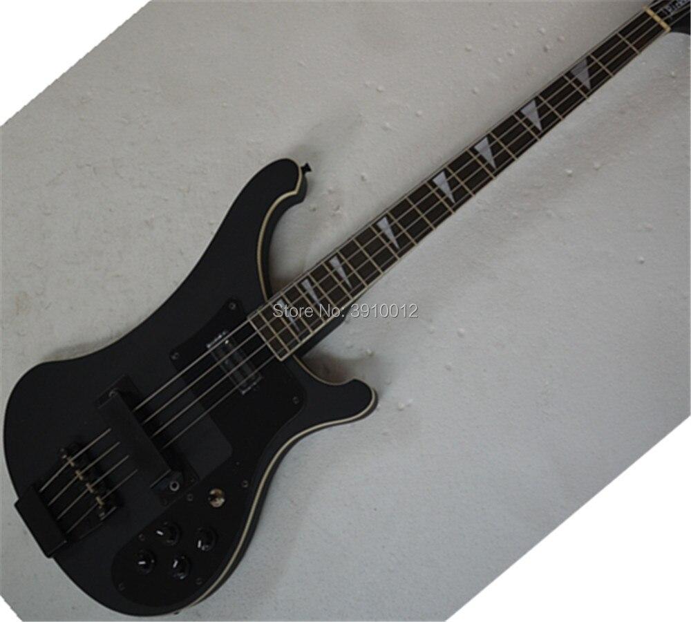 Nouvelle Arrivée ricken 4003 guitare basse Mat Noir couleur Noir Matériel 4 cordes basse électrique guitare