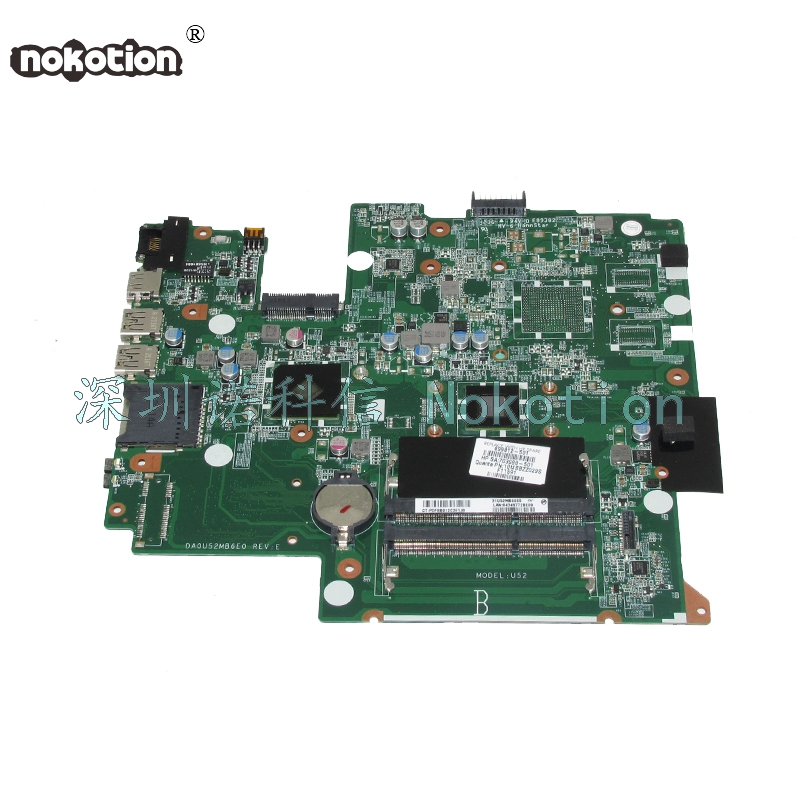 NOKOTION DA0U52MB6E0 699812-501 699812-001 Laptop motherboard For HP Pavilion Sleekbook 14 14-B Main board full test nokotion for hp sleekbook 14 b laptop motherboard 714618 501 715866 501 da0u33mb6d0 with i3 2367m cpu onboard