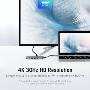 Image 5 - Vention Thunderbolt 3 Dock USB Hub ประเภท C ถึง HDMI USB3.0 RJ45 อะแดปเตอร์สำหรับ MacBook Samsung Dex S8/S9 huawei P30 Pro usb c Adapter