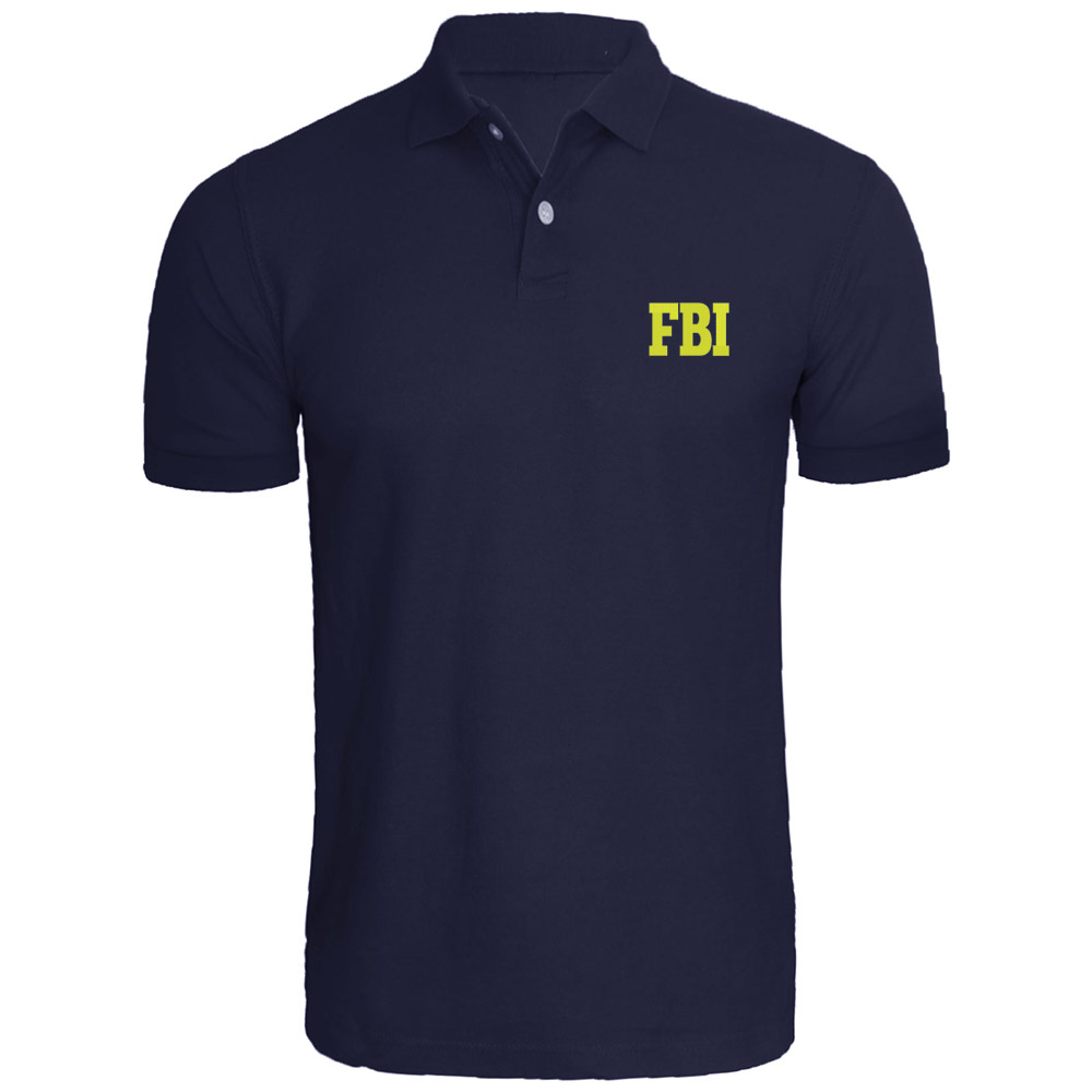 Mens Fbi Federal Agent Embroidered   Polo   Shirts