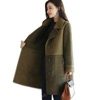 Woman Faux Fur Female Outerwear 2018 autumn Plus Size Women Clothing Winter Artificial Buckskin Coats Curly Wool Fake Fur Coats
