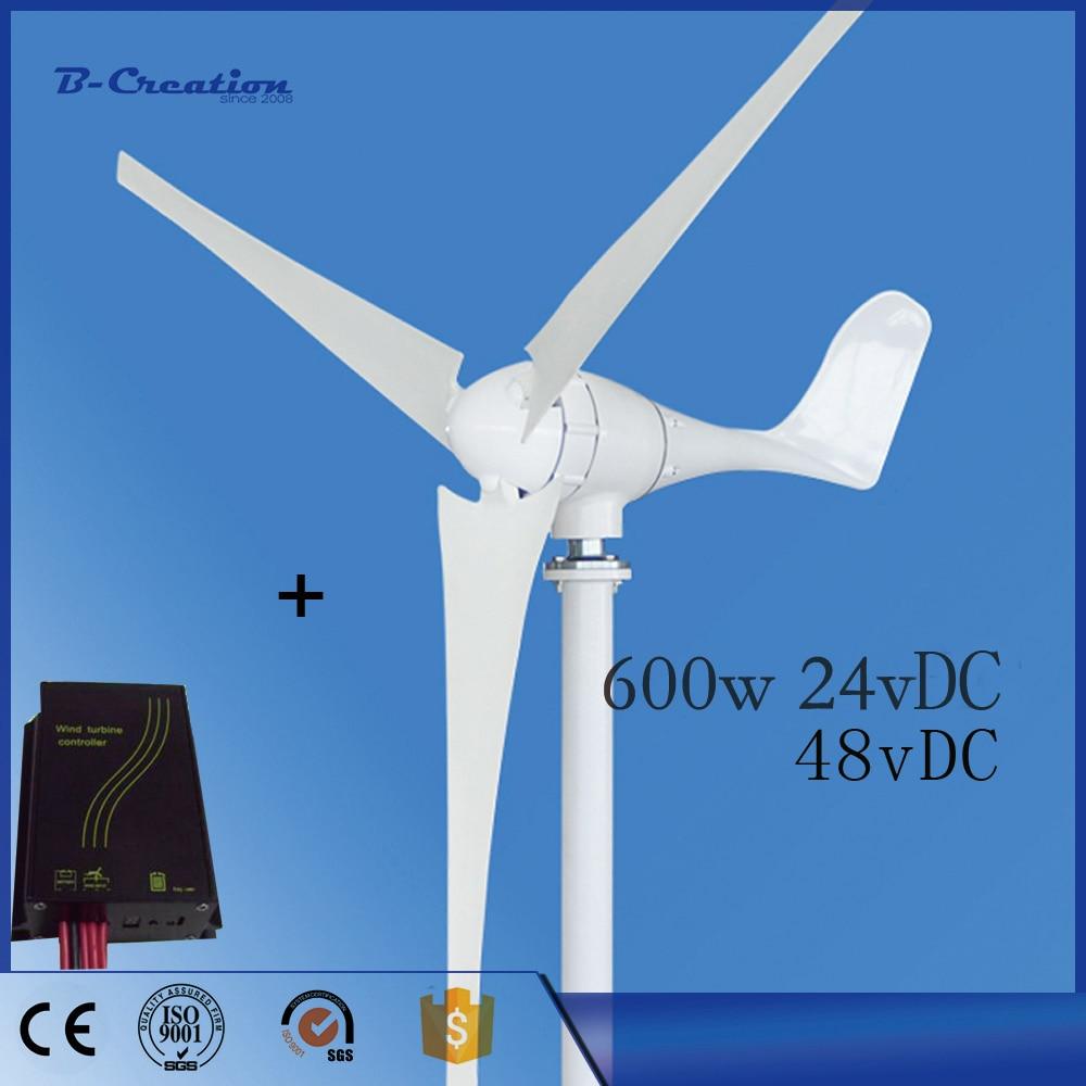 2018 New Arrival Paneles Solares Para El Hogar Sale Wind Generator New For Turbine 600w 3 Pcs Blades Generator+wind Controller 600w wind generator controller 600w 12v 24v waterproof wind turbine generator controller