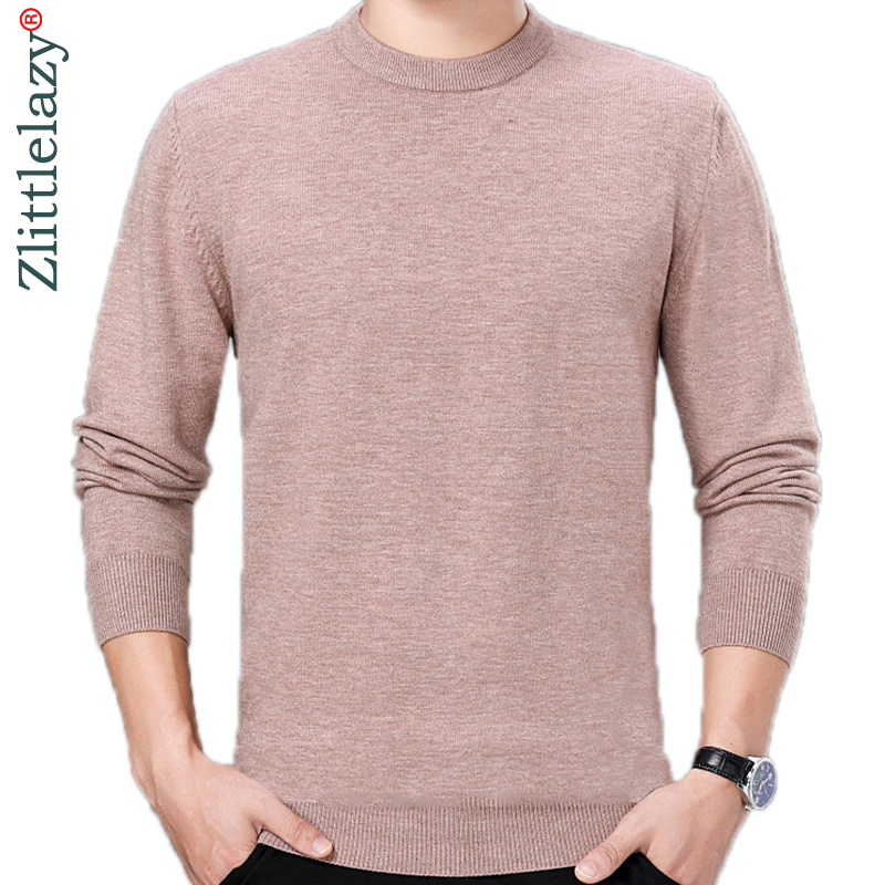 2019 Winter Thick Pullover Solid Men Sweater Dress Jersey Knitted Sweaters Mens Wear Slim Fit Knitwear Fashion Clothing 3127