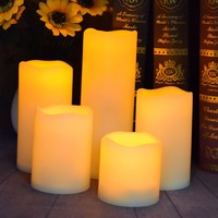 Outdoors 5pcs Flameless Waterproof LED Candles Battery Operate Tea Light Candles Lamp Set For Home Wedding Party Decoration